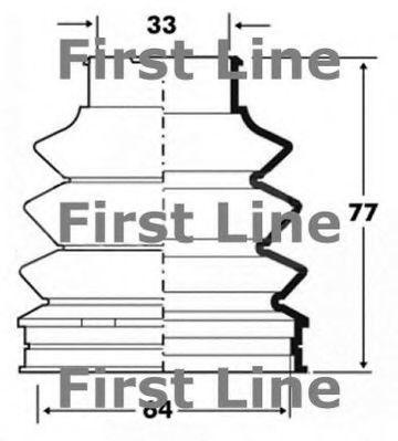 Пыльник, приводной вал FIRST LINE FCB6095