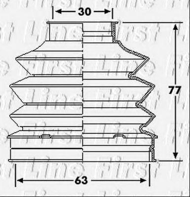 Пыльник, приводной вал FIRST LINE FCB6195