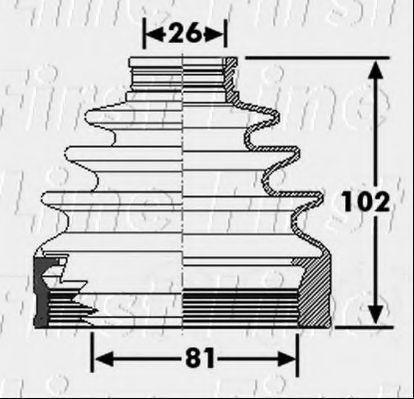 Пыльник, приводной вал FIRST LINE FCB6267