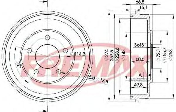 Тормозной барабан FREMAX BD6544