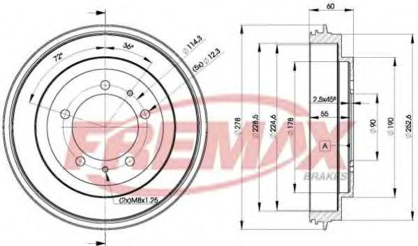 Тормозной барабан FREMAX BD7040