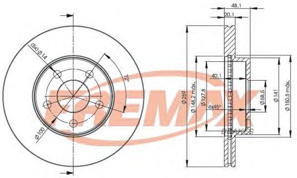 Тормозной диск FREMAX BD4762