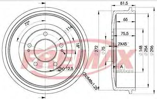 Тормозной барабан FREMAX BD0101