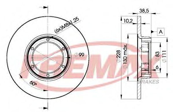 Тормозной диск FREMAX BD2500