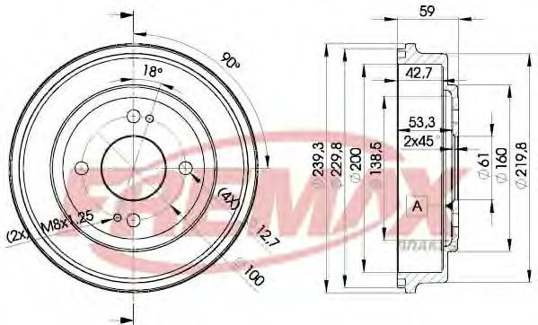 Тормозной барабан FREMAX BD3901