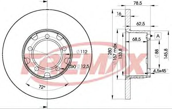 Тормозной диск FREMAX BD4280