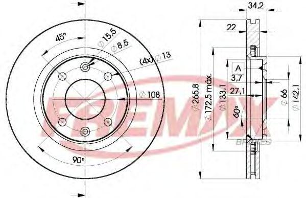 Диск тормозной FREMAX BD4750