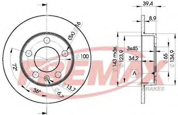 Диск тормозной FREMAX BD5601