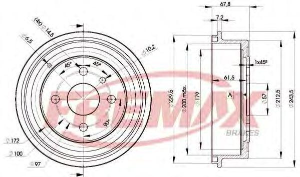 Тормозной барабан FREMAX BD8958