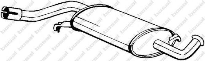 Глушитель средний BOSAL 105153