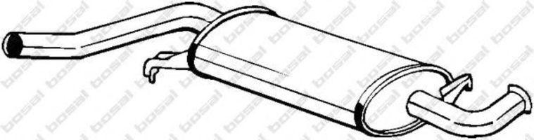 Глушитель средний BOSAL 105-971