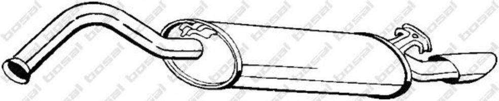 Глушитель задний BOSAL 278-971