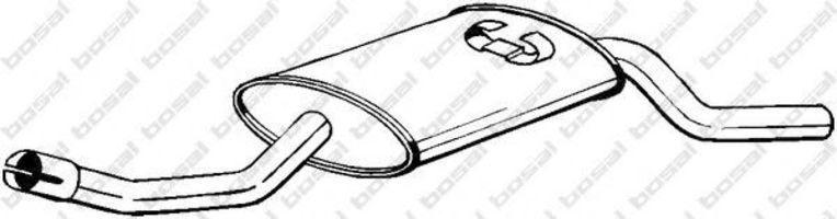 Глушитель выхлопных газов конечный VFM-BOSAL 105941