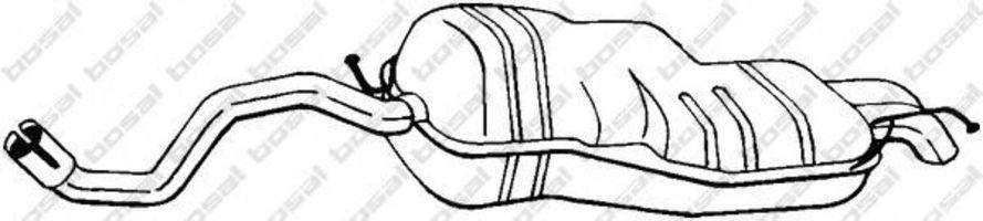 Глушитель задний BOSAL 279-107