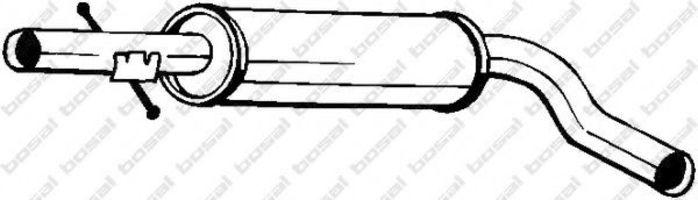 Глушитель средний BOSAL 105-109