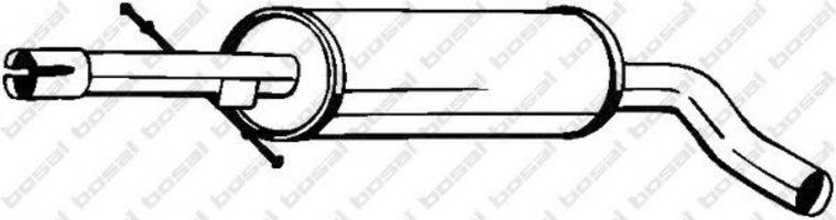 Глушитель средний BOSAL 105-497