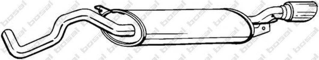 Глушитель выхлопных газов конечный VFM-BOSAL 281505