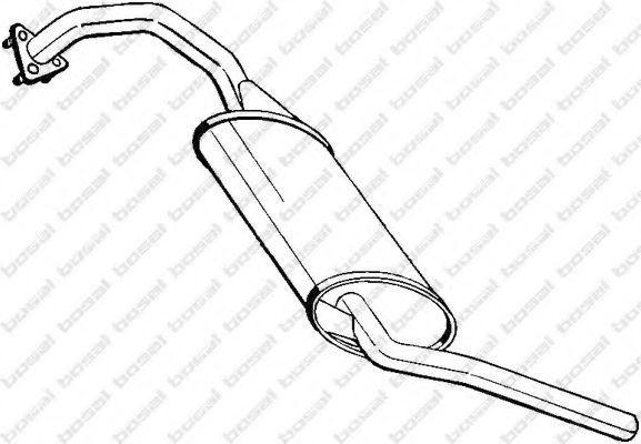 Глушитель выхлопных газов конечный VFM-BOSAL 278287