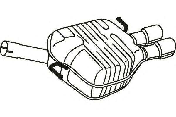 Глушитель выхлопных газов конечный FENNO STEEL P1373