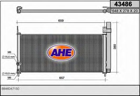 Конденсатор, кондиционер AHE 43486
