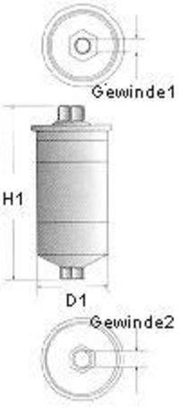 Фильтр топливный CHAMPION L210/606