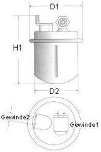 Фильтр топливный CHAMPION L214/606