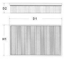 Фильтр воздушный CHAMPION U631/606
