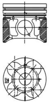 Поршень двигателя KOLBENSCHMIDT 40179610