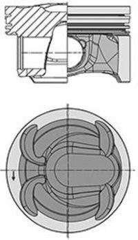 Поршень двигателя KOLBENSCHMIDT 40315600