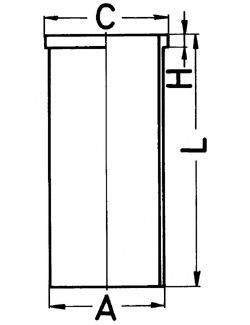 Гильза блока цилиндров KOLBENSCHMIDT 89866190