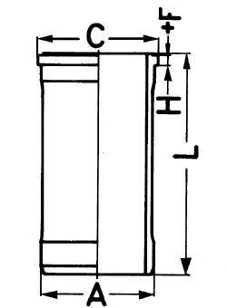 Гильза блока цилиндров KOLBENSCHMIDT 89568110