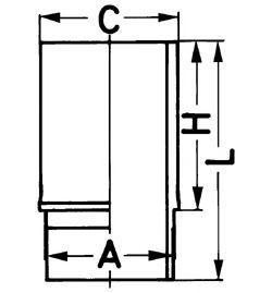 Гильза цилиндра KOLBENSCHMIDT 89 02411 0
