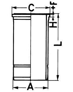 Гильза двигателя KOLBENSCHMIDT 89879110