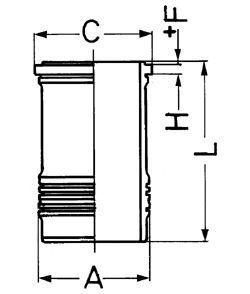 Гильза блока цилиндров KOLBENSCHMIDT 89420110