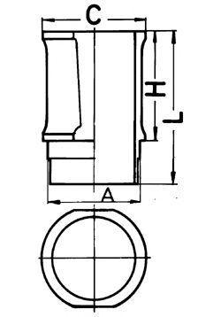 Гильза блока цилиндров KOLBENSCHMIDT 89 30111 0