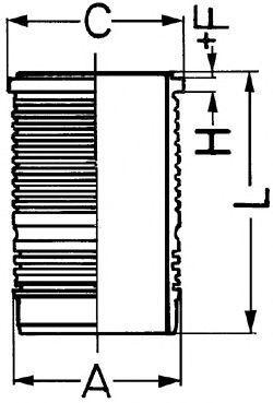 Гильза блока цилиндров KOLBENSCHMIDT 89500110