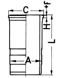Гильза блока цилиндров KOLBENSCHMIDT 89 56311 0