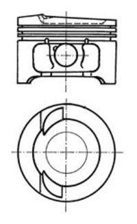 Поршень двигателя KOLBENSCHMIDT 91033610