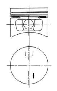 Поршень двигателя KOLBENSCHMIDT 92396620