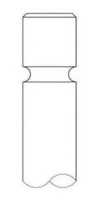 Клапан двигателя выпускной INTERVALVES 2798.006