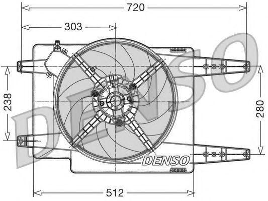 Вентилятор, охлаждение двигателя NPS DER01017