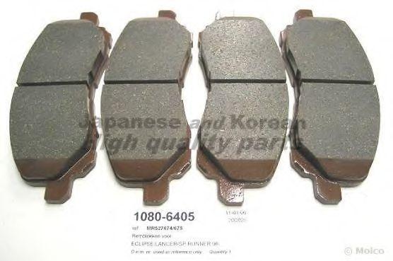 Комплект тормозных колодок, дисковый тормоз ASHUKI 10806405
