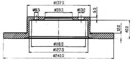 Тормозной диск VEMA 98006