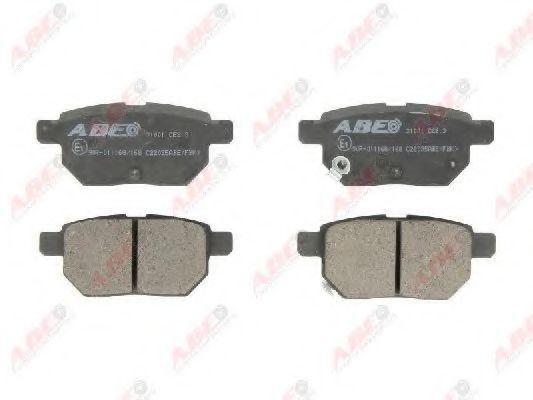 Колодки тормозные ABE C22035ABE