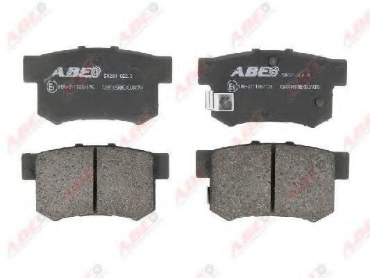 Колодки тормозные ABE C24005ABE