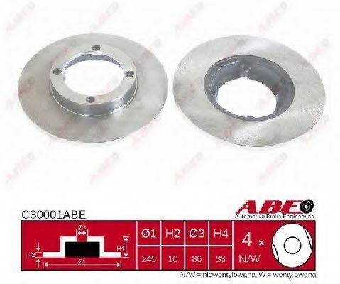 Диск тормозной ABE C30001ABE