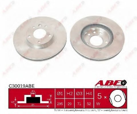 Диск тормозной ABE C30019ABE