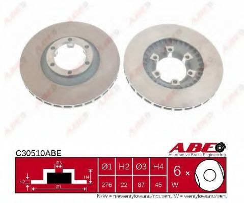 Диск тормозной ABE C30510ABE