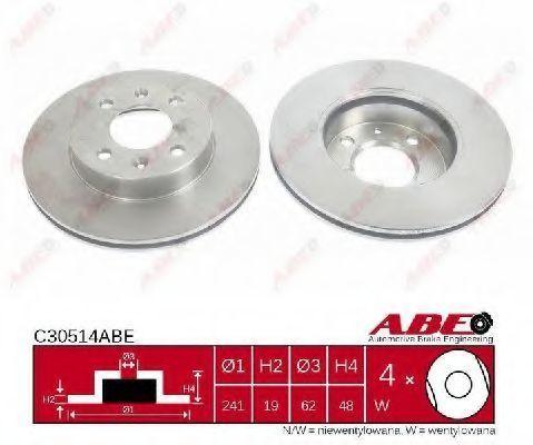 Диск тормозной ABE C30514ABE