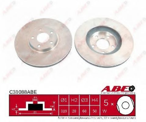 Диск тормозной ABE C31088ABE